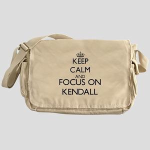 Keep Calm and Focus on Kendall Messenger Bag