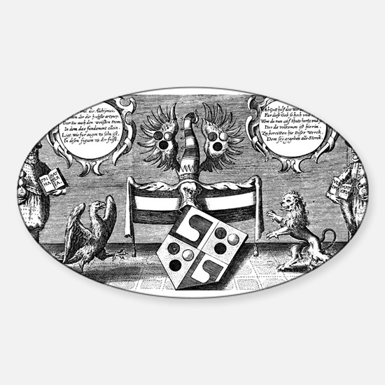 Alchemical Cabala Etching Oval Decal