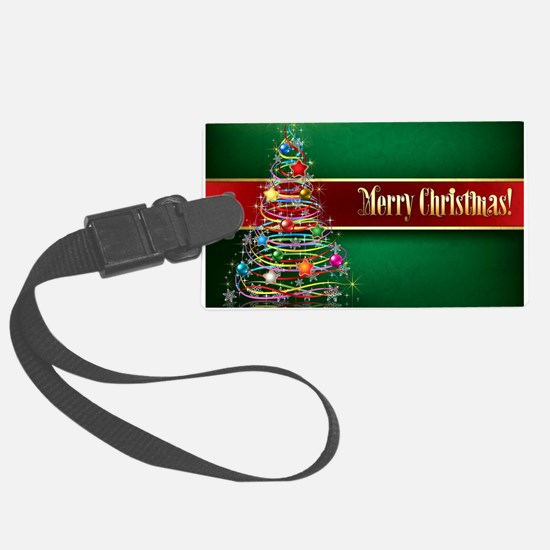 Merry Christmas Luggage Tag
