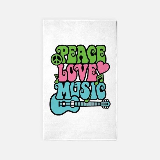Peace-Love-Music Area Rug
