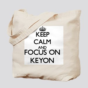 Keep Calm and Focus on Keyon Tote Bag