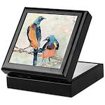 Golden Breasted Starlings Keepsake Box
