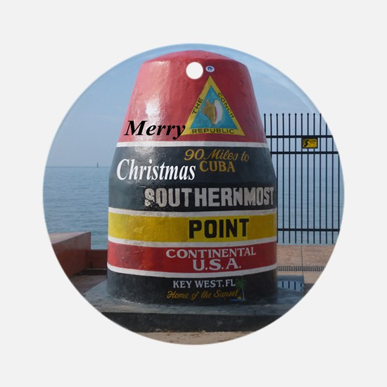 Key West marker Ornament (Round)