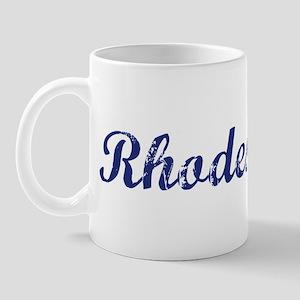 Rhodes - vintage (blue) Mug
