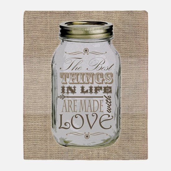 Mason Jar Brown The Best Things in Life Are Made w