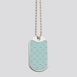 Aqua Sky & White Lace Tile 2 Dog Tags