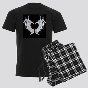 Angelwings heart Men's Dark Pajamas