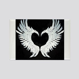 Angelwings heart Rectangle Magnet