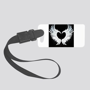 Angelwings heart Small Luggage Tag