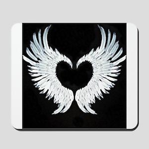 Angelwings heart Mousepad