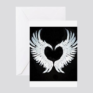 Angelwings heart Greeting Card