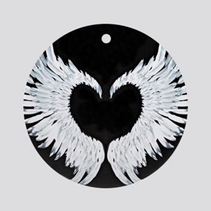 Angelwings heart Ornament (Round)