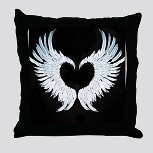 Angelwings heart Throw Pillow