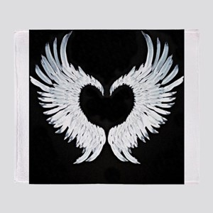 Angelwings heart Throw Blanket