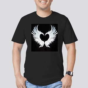 Angelwings heart Men's Fitted T-Shirt (dark)