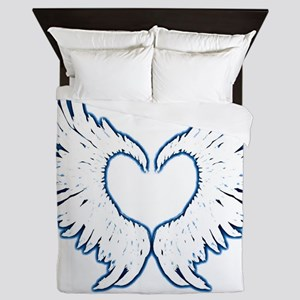 Angel wings touch of blue Queen Duvet