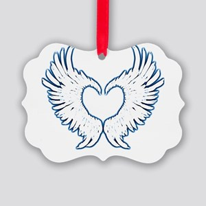 Angel wings touch of blue Ornament