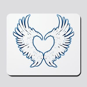 Angel wings touch of blue Mousepad