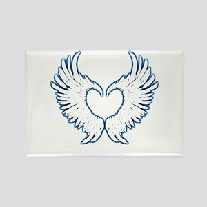 Angel Wings Touch Of Blue Magnets