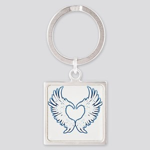 Angel Wings Touch Of Blue Keychains