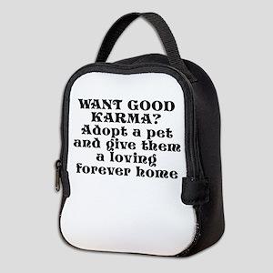 Adopt a pet - Neoprene Lunch Bag