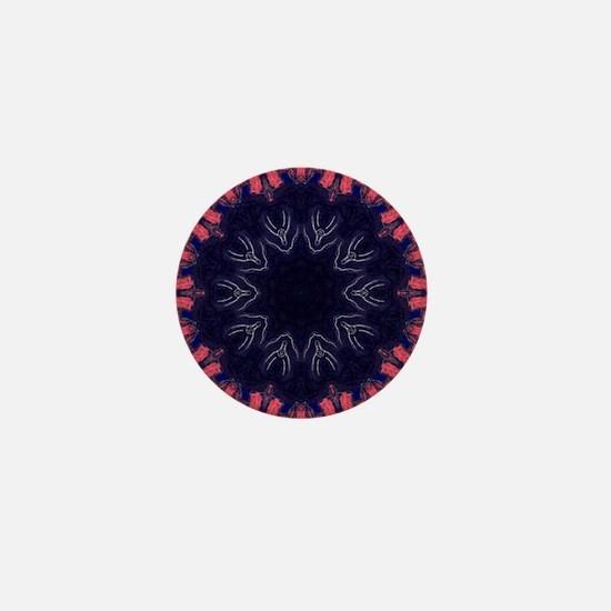 Amnesia Art Mandala Mini Button