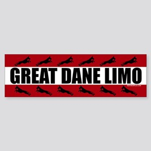 Great Dane Limo Bumper Sticker