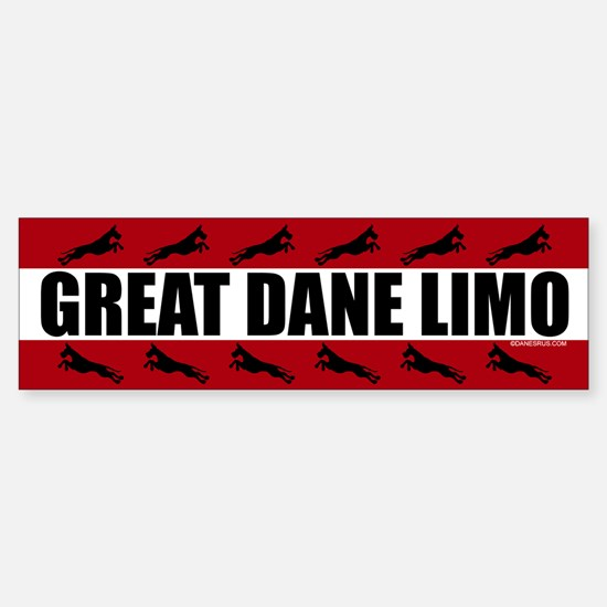 Great Dane Limo Bumper Bumper Bumper Sticker