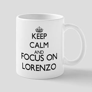 Keep Calm and Focus on Lorenzo Mugs