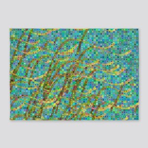 Algae mosaic 5'x7'Area Rug