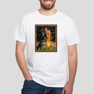 Midsummers Eve & Doberman White T-Shirt