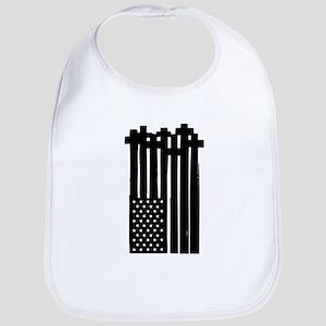 American Flag Crosses Bib