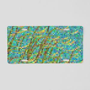 Algae mosaic Aluminum License Plate