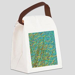 Algae mosaic Canvas Lunch Bag