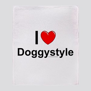 Doggystyle Throw Blanket