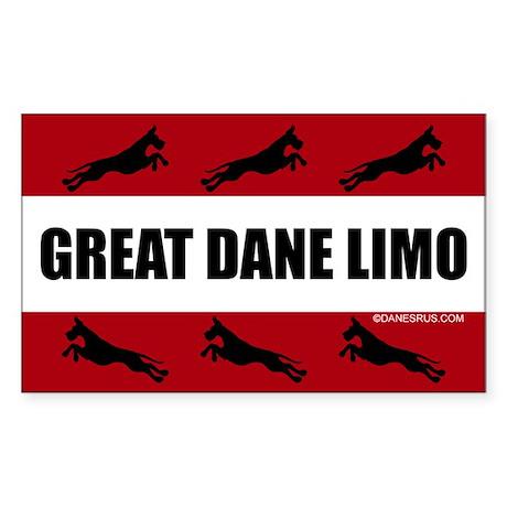 Great Dane Limo Sticker (Rect.)