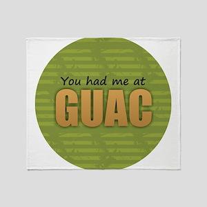 You Had Me at Guac Throw Blanket