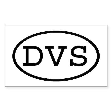 DVS Oval Rectangle Sticker