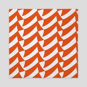 Orange Check Pattern Queen Duvet