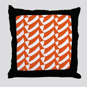Orange Check Pattern Throw Pillow