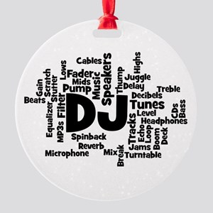 DJ Word Cloud Ornament