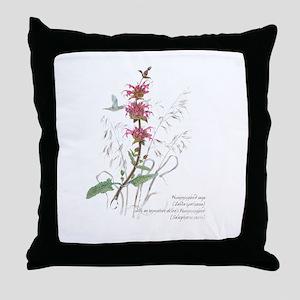 Hummingbird sage Throw Pillow