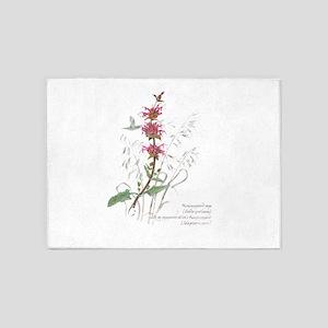 Hummingbird sage 5'x7'Area Rug