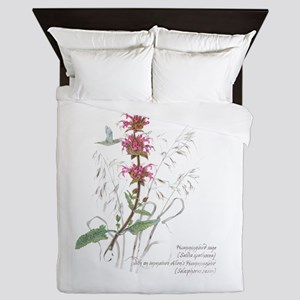 Hummingbird Sage Queen Duvet