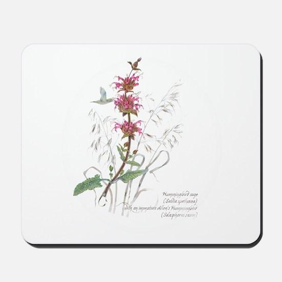 Hummingbird sage Mousepad