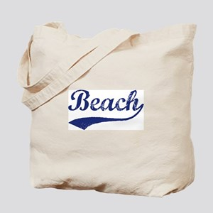 Beach - vintage (blue) Tote Bag