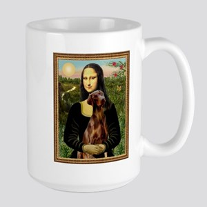 Mona Lisa (new) & Red Doberman Large Mug
