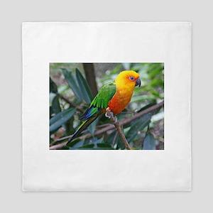 Parakeet Queen Duvet