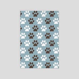 Paw Print Pattern 4' x 6' Rug