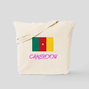 Cameroon Flag Artistic Pink Design Tote Bag